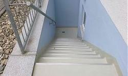 65582 Diez - Abdichtung einer Kelleraußentreppe mit Flüssigkunststoff