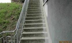 56379 Singhofen - Abdichtung einer Treppe - Anschlussabdichtung zum Gebäudesockel