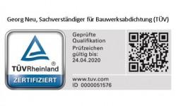 SV-TÜV -Bauwerksabdichtung bis 4-2020